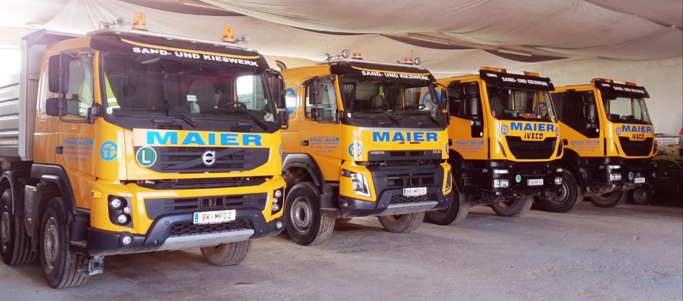 Kieswerk Maier Lochen Werktransporte